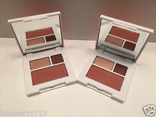 2x Clinique All About Shadow Duo:02 Black Honey/ 01 Sunset Glow with Fig Blush