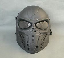 Airsoft Paintball ABS Full Face Protection Skull Mask Simple Practical Halloween
