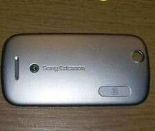 Genuine Original Sony Ericsson Zylo Battery Cover Silver Fascia