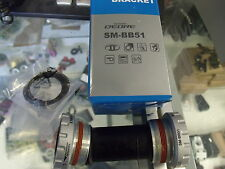 SHIMANO DEORE SM-BB51--BB52 EXTERNAL BEARING SILVER BICYCLE BOTTOM BRACKET