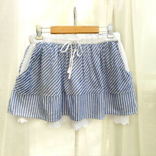 junior skirt nautical navy stripe cute abercrombie Japanese style