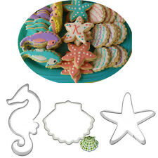 Christmas DIY Ocean Seahorse Star Shell Baking Biscuit Cookie Cutter Mould