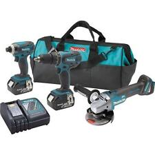 Makita 18-Volt LXT Lithium-Ion Cordless Combo Kit  w/ Brushless Angle Grind