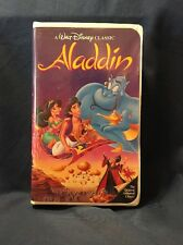 Walt Disney Classic Aladdin Black Diamond VHS Tape Movie #1662 Working Aladin