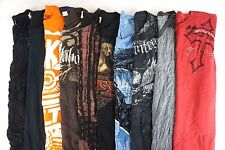 Mixed Brand w/ Affliction Lot of 10 Men's Cotton Graphic T-Shirts Large Q9250.5