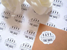 Wedding Save The Date  Envelope Seal stickers for invitations 35 pcs