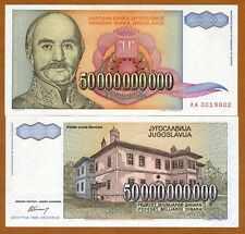 Yugoslavia, 50,000,000,000 (50000000000) Dinara, 1993, P-136, AA-Prefix, UNC