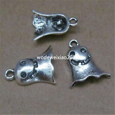 20pc Tibetan Silver Charms Beads Ghost Specter Pendant Jewellery Making PL443
