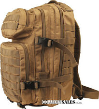 COYOTE Tan SMALL 28L Molle Assault Pack by Kombat UK - Backpack, Rucksack, Bag