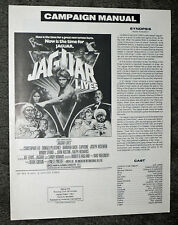 JAGUAR LIVES original 1979 pressbook JOE LEWIS/CHRISTOPHER LEE/BARBARA BACH