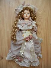 CATHAY COLLECTION PORCELAIN VICTORIAN DOLL - BEAUTIFUL  AMBER