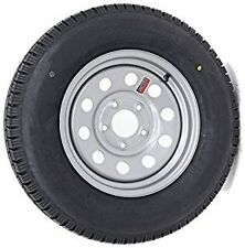 Set Of 2 Contender 205/75/R14 LR C Silver ModTrailer Tire / Wheel Assembly 5-4.5