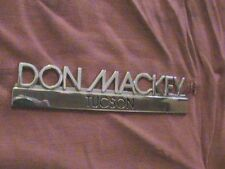 1970's 70's 1980's 80's 1990's 90's Don Mackey Tucson Arizona Dealership Emblem