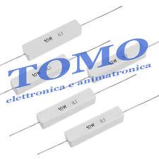 3pz resistenza potenza 10W a filo in cemento R1 0,1ohm