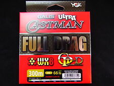 YGK - GALIS ULTRA CASTMAN FULL DRAG WX8 GP-D 300m #4 66lb