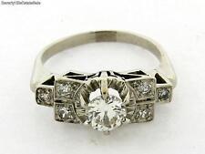 Antique Art Deco Diamond Platinum .60 Carat Bar Design Ring