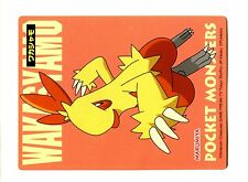 PROMO MARUMIYA STICKER JAPANESE CARD (60x80mm) N° GALIFEU Combusken