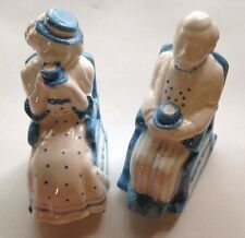 Dept. 56 Salt and Pepper Shakers - Old Couple in Rocking Chairs