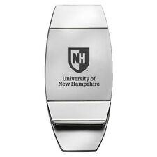 University of New Hampshire - Two-Toned Money Clip - Silver