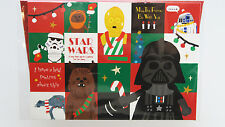 STAR WARS 3D Christmas Card Disney Store Japan Darth Vader Yoda Stormtrooper