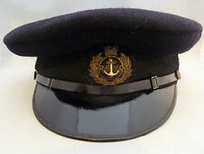 VINTAGE BLACK ROYAL NAVY CHIEF PETTY OFFICERS CAP Royal Bombay Yacht Club? 6 1/4