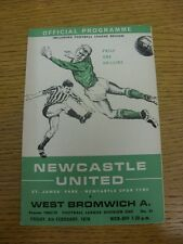 06/02/1970 Newcastle United v West Bromwich Albion  (folded, team changes).  Thi