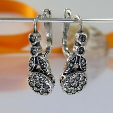 A093 Ohrringe Earrings 925 Silber Schmuck mit Swarovski Elements Kristalle