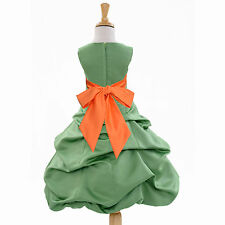CLOVER GREEN CHRISTMAS FLOWER GIRL DRESS FOR WEDDING RECITAL BIRTHDAY HOLIDAYS