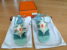 Hermes Sandals Lizard Size 39