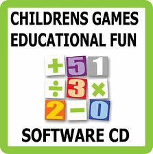 Childrens Fun Learning Educational Games Software CD Kids Learn Maths & English
