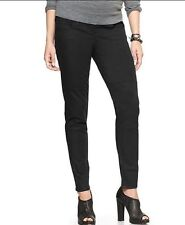 NWT GAP 1969 MATERNITY COATED BIKER LEGGING JEANS BLACK SZ 33 / 16 R