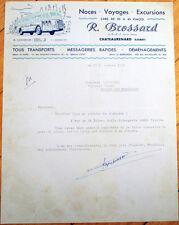 Bus/Car/Transport 1951 French Letterhead: Brossard-Chateaurenard, Loiret, France
