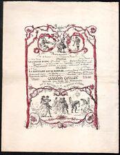 Programme 18 février 1873. Massicault, De Lorbac, Octave Feuillet