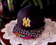 Mens New York Yankees 9Fifty New Era Snapback Cap Black/Orange LOGO  Neon Mashup