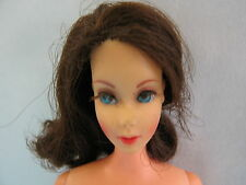 Nude Dark Brunette Flip TNT Barbie Doll #1160  ~ Vintage Mod