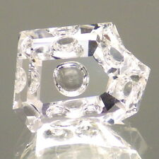DANBURITE-MEXICO 5.57Ct FLAWLESS-VERY SLIGHT PINK TINT-UNIQUE FACETING!!