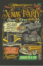 2016 Mooneyes X-Mas Party Show & Drag Rat Fink Irwindale postcard