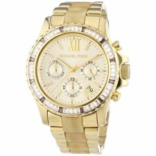 Michael Kors MK5874 Everest Champagne Dial Gold Tone St Steel Horn Acetate Watch