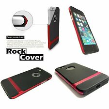 Cubierta de Rock Original Apple iPhone 6 & 6S Flex Rigid Tech Resistente híbrida caso rojo