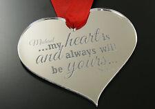 Personalizados, Grabado De San Valentín Día Acrílico Love Token corazón Placa Keepsake
