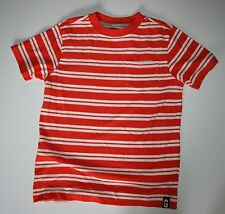 New Gymboree Hop 'N' Roll Line Orange Striped Short Sleeve Pocket Tee Sz 7 NWT