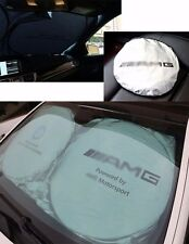 For AMG Front Rear Car Window Foldable Sun Shade Shield Cover Visor UV Block