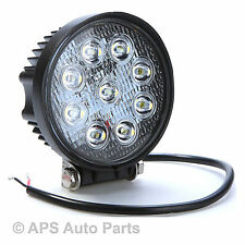 27W LED Flood Beam Work Light Lamp Tractor Truck Boat Quad Bike 12V 24V Round