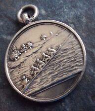 Vintage Sterling Silver Fob Medal - Rowing 1911 Junior Championship