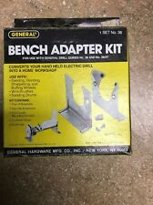 General Tools 38 Bench Adapter Kit For General 36& 36/37 Drill Guide USA
