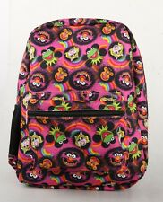 "The Muppets 16"" Backpack Faces Kermit Ms Piggy Animal Large Backpack Book Bag"