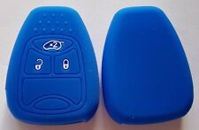 BLUE SILICONE CAR KEY COVER for JEEP DODGE CHRYSLER COMPASS CALIBER DURANGO RAM