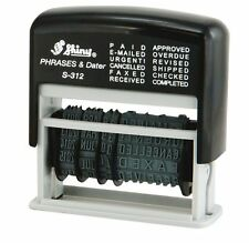 Self Inking Ink 12 in 1 Dater Date Stamp PAID, E-MAILED, SHIPPED, COMPLETED