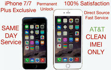 ATT Exclusive Factory Unlock Service for Clean iPhone 7 & iPhone 7 Plus IMEI