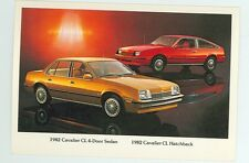 1982 Chevrolet Cavalier  (NEW post card (autoB#225*15